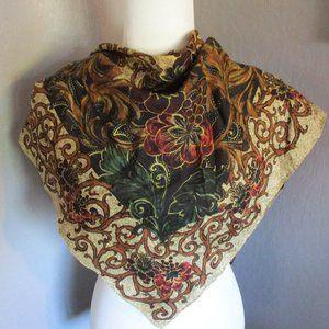 Vines & floral scarf
